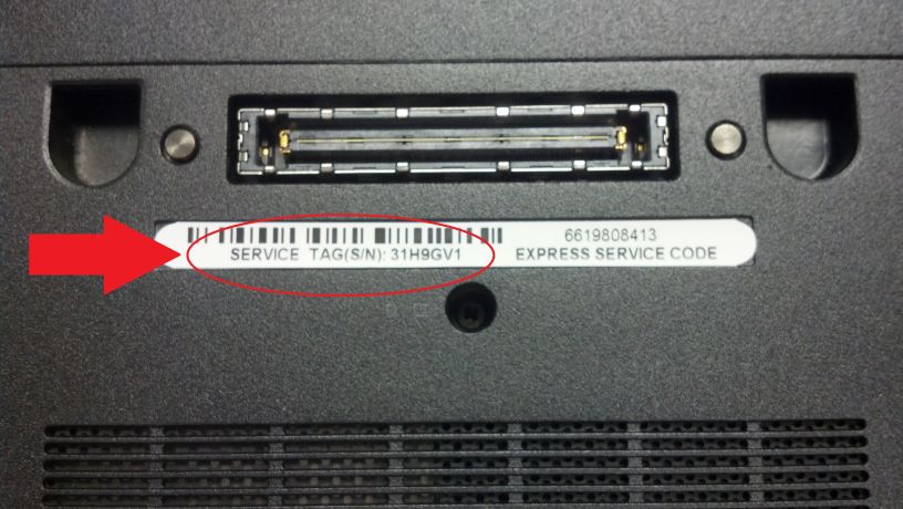 serial number of samsung laptop