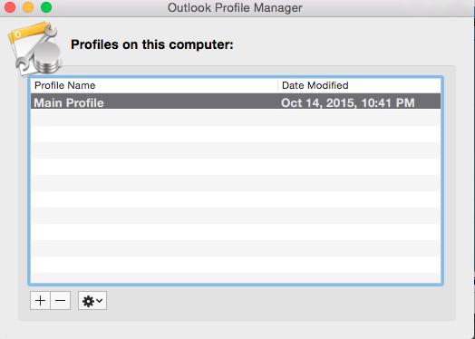 delete account outlook 2016 mac