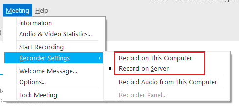 Public Knowledge - How do I record a WebEx meeting?