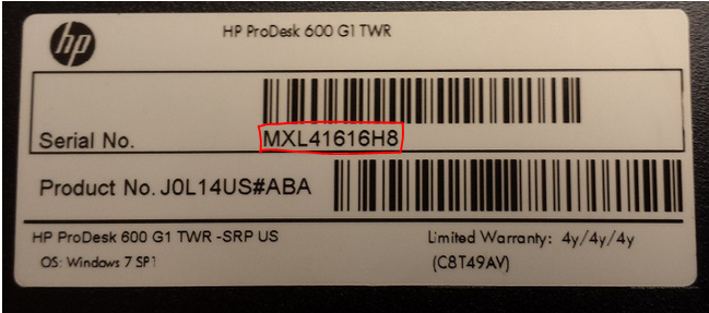 where is my serial number on my hp laptop