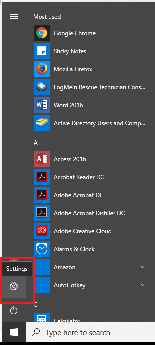 remove office 2016 from windows 10 start menu