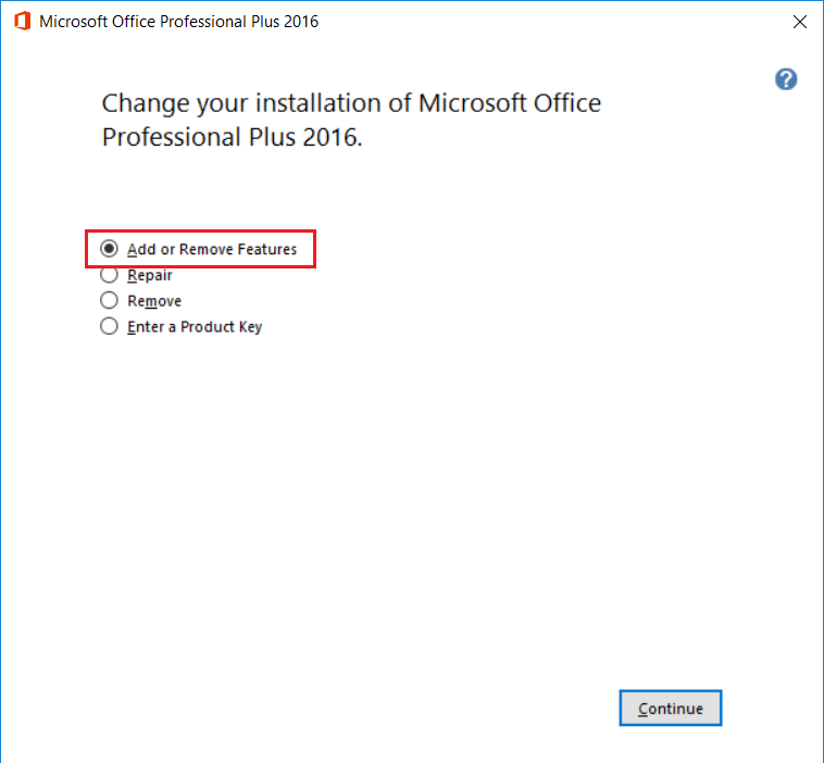 install microsoft office professional plus 2016